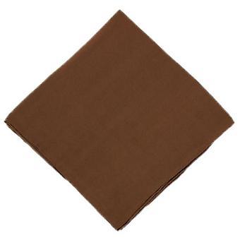Michelsons of London Plain Silk Handkerchief - Brown