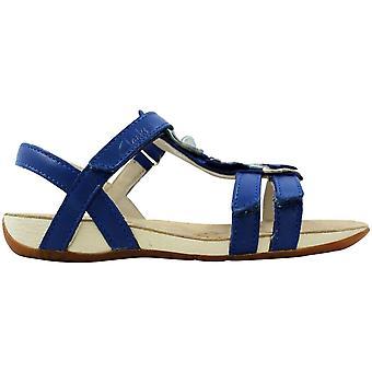 Clark's Rio Dance JNR Blue Leather 26108239 Pré-escola