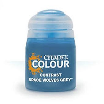 Contraste: Space Wolves Grey (18ml) ,Citadel Paint Contrast, Warhammer 40,000