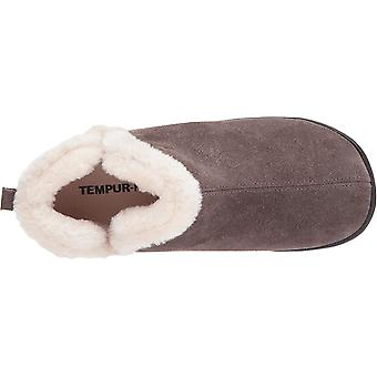 Tempur-Pedic Womens Vallery Faux Fur Closed Toe Slip On Slippers