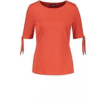 Taifun Orange Bow Sleeve T-Shirt