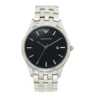 Armani Watches Ar11019 Blue Sunray Dial & Silver Stainless Steel Men's Watch