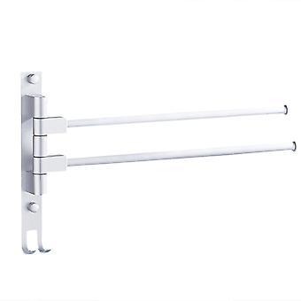 YANGFAN Space Aluminum Punch-Free Rotating Towel Rack