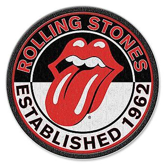 The Rolling Stones Patch Est 1962 Band Logo new Official Iron on (8.4 cm)