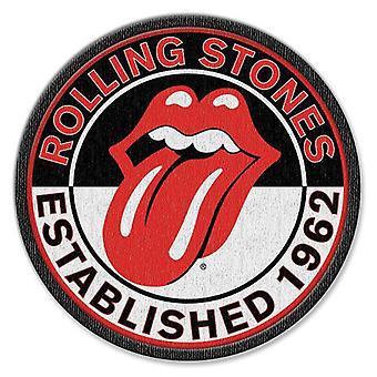 De Rolling Stones Patch Est 1962 bandlogo nieuwe officiële opstrijkbare (8,4 cm)