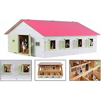 KidsGlobe  (Kids Globe) Kids Globe Horse Ranch, 7 Horse Stalls  Pink  1:24 0189