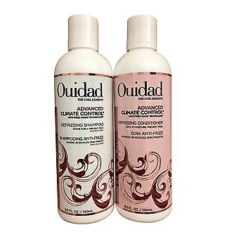 Ouidad Advanced Climate Control Defrizzing Shampoo & Conditioner Set Elke 8,5 OZ