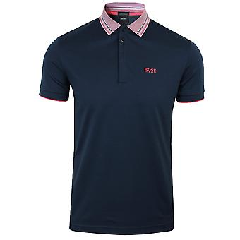 Hugo boss men's navy paddy 1 polo shirt