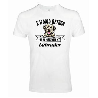 Golden Labrador Squinting Dog T-Shirt - Plutôt être avec...