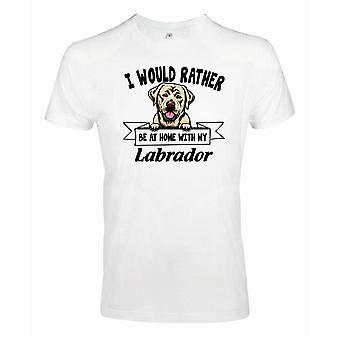 Golden Labrador Kikande hund t-shirt - Rather be with...