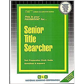 Senior Title Searcher (Passbook Series)