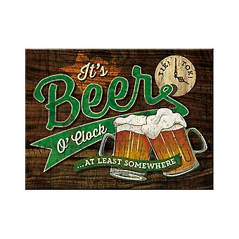 It's Beer O'Clock Nostalgic Metal Magnet - Cracker Filler Gift