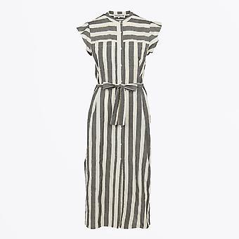 Teoh & Lea - Striped Frill Sleeve Dress