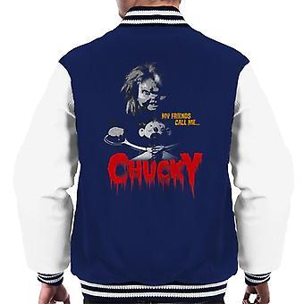 Chucky Mis amigos me llaman Chucky Men's Chaqueta Varsity