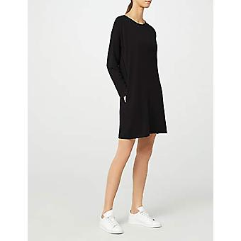 Meraki Women's Long Sleeve Shift Klänning med fickor, svart, EU L (US 10)