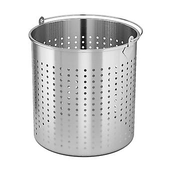 SOGA 71L 18/10 Stainless Steel Perforated Stockpot Basket Pasta Strainer with Handle