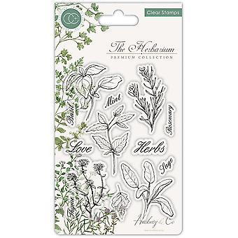 Craft Consortium The Herbarium Clear Stamps Herbs