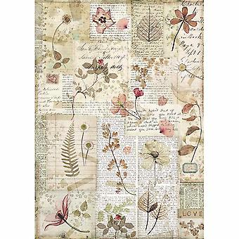 Stamperia Rice Paper A4 Pressed Flowers