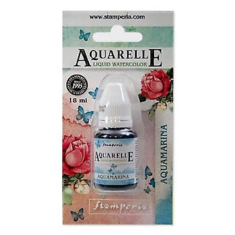 Stamperia Aquarelle Watercolor Aquamarina (18ml) (KAWCL07)