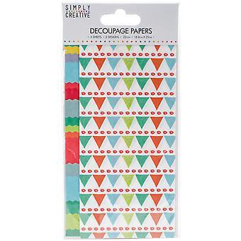 Helt enkelt Creative FSC Decoupage Paper - Bright Bunting