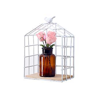 Balcony Wall Storage Basket White 15.5x9.5x22.5cm