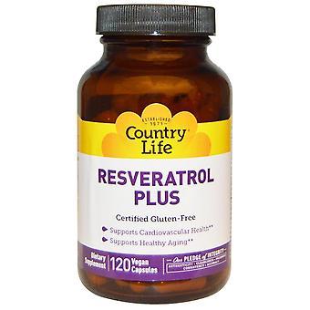 Country Life, Resveratrol Plus, 120 Vegan Capsules