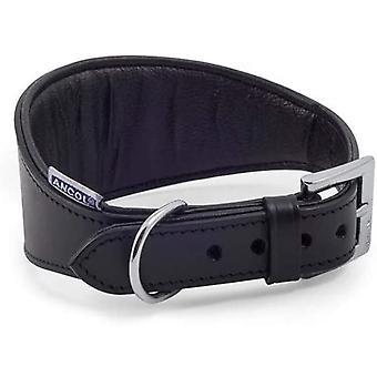 Ancol Heritage Pelle Imbottito Whippet Collare - Nero - 26-31cm (Taglia 2)