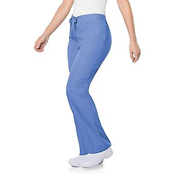 Scrub Zone Professional Medical 2-Pocket Drawstring Scrub Pant, Ceil, Medium