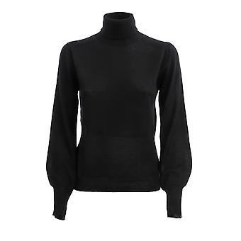 Pinko 1g157qy6dyz99 Kvinder's Sort Uld Sweater
