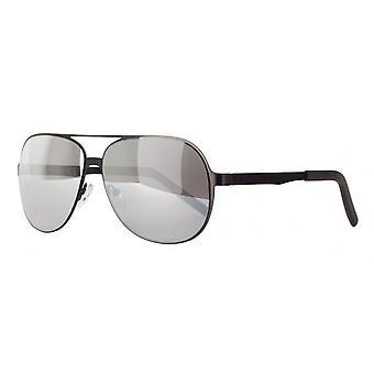 نظارات شمسية Unisex Cat.3 أسود / فضة (amm19105e)