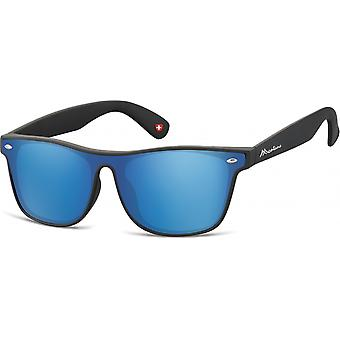 Sunglasses Unisex Travelers matt black/blue (MS47)