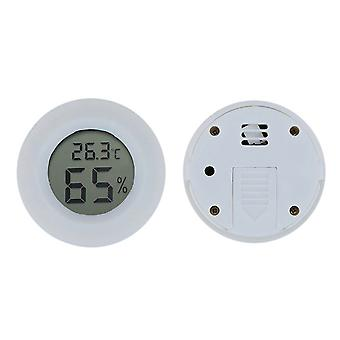 Runde Mini Digital Hygrometer Thermometer Weiß