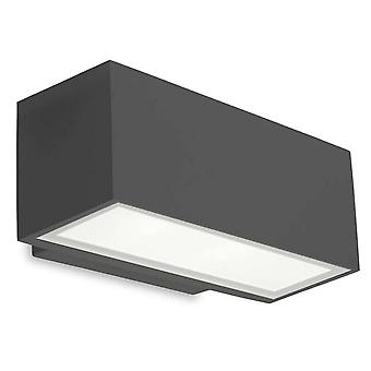 Leds-C4 Afrodita - LED al aire libre arriba y abajo de la luz de la pared gris urbano 22cm 1217lm 4000K IP65