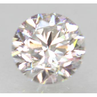 Certificado 0.51 quilates D VS2 redondo brillante diamante natural mejorado 4.89mm 3VG