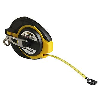 Stanley Tools FatMax Closed Case Steel Long Tape 30m (Width 9.5mm) STA034132