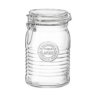 Bormioli Rocco Officina 1825 Glass Storage Jar with Airtight Clip Lid - 1 Litre