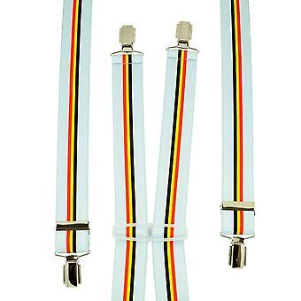 Ties Planet Belgio Flag Light Blue Men's Trouser Braces