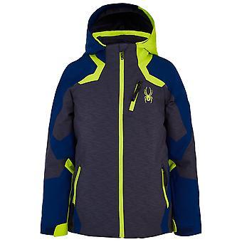 Spyder LEADER Boys Repreve PrimaLoft Ski Jacket Grey