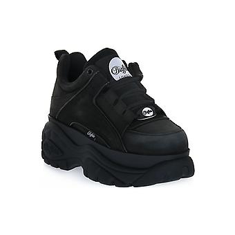 Buffalo 1339 black cow leather sneakers fashion