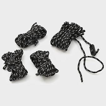 Nya Hi-Gear Reflektera Ropes 4mm X 4m Svart
