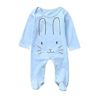 Newborn Romper, Infant Long Sleeve Footed Sleeper- Rabbite Cartoon Print