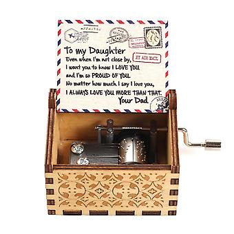 A Letter To My Daughter, Hand-operated, You Are My Sun Music Box For Kid