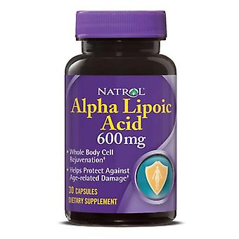 Natrol Alpha Lipoic Acid, 600 mg, 30 Caps
