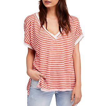 We The Free By Free People | Take Me Linen Striped T-Shirt