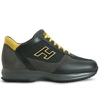 Hogan Interactive Men's Sneaker Zwart, Grijs en Geel