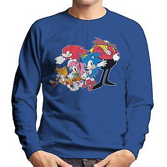 Sonic The Hedgehog Group Together Men's Sweatshirt