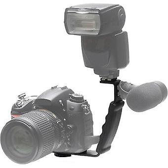 Phot-r heavy duty professionale l sagomato staffa flash porta fotocamera quick flip per flashg