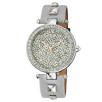 Rebel Women's Rockaway Parkway Grey/Silver Dial Leather Watch