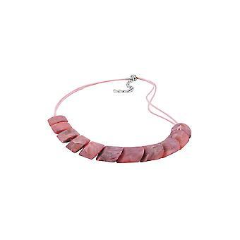 Collana Perline inclinate Marmoro rosa