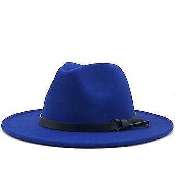 Neue Frauen Männer Wolle Fedora Hut mit Lederband